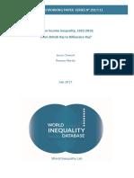 Indian income inequality - 1922-2015 From British Raj to Billionaire Raj - Lucas Chancel & Thomas Piketty.pdf