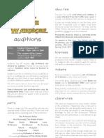 Lion Witch Wardrobe Audition Info