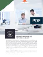 PECB University Graduate Certificate in IT Service Management