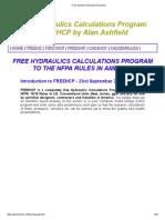 Free Sprinkler Hydraulics Programs