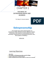 THE BASIC OF ENTREPRENEURSHIP AND BUSINESS
