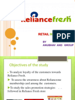 STUDY ON RELIANCE FRESH- CASE STUDY