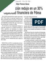 Edgard Romero Nava La Devaluacion Redujo 30% Capacidad Financiera de PDVSA - El Informador 27.06.1987