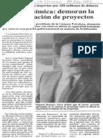 Edgard Romero Nava Petroquimica- Demoran La Contratacion de Proyectos - El Diario de Caracas 20.11.1987