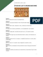 Consejos Poéticos de Los 78 Arcanos Mayores