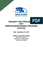 Printer Maintenance RFP - Final