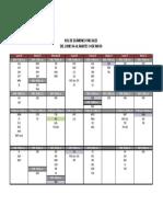 Cronograma de Exámenes Parciales 2019-I