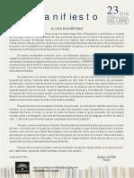 Manifiesto Del Dia Del Libro 2018