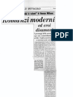 Romanzi Moderni Ed Eroi Disumani
