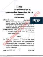 E commerce 2013  Mdu paper for Bba