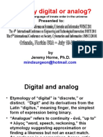 Is Reality Digital Or Analog - IIIS