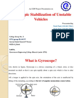 gyroscopic stabilization of unstable vehicles