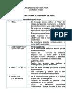 Guía Práctica Para Elaborar El Proyecto de Tesis 2017