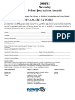 Official Entry Form