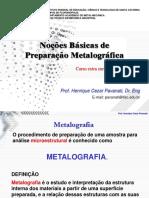 Metalografia Padrão