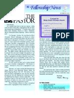 Oct 28, 2010 Fellowship News