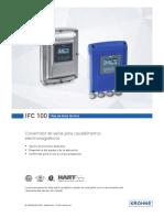 TD_IFC100_Transmisor Medidor Caudal Krohne
