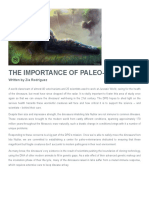 Report. the Importance of Paleovets - Zia Rodriguez