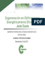 Cogeneración en edificaciones energéticamente eficientes