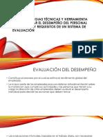 4.1.1 Estrategias Tecnicas y Herramientas Oara Evaluar El Desempeño Del Personal