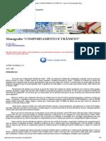 """Monografia """"COMPORTAMENTO E TRÂNSITO"""" – Super Click Monografias Blog"""
