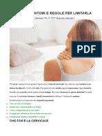 Cervicale Sintomi e Regole Per Limitarla
