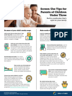 screen-use tips for parents of children under three