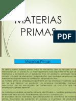 materias primas AMBIENTAL