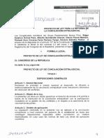 Proyecto de la Ley de la Reforma de la Ley de Conciiacion Extrajudicial 2018.pdf