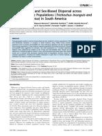 Filogeografía y Dispersión Sesgada Por El Sexo en Poblaciones de Manatíes Ribereños (Trichechus Inunguis y Trichechus Manatus) en América Del Sur