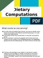 Dietary Computations 1