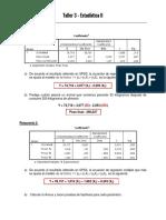 Taller 3 - Estadística II