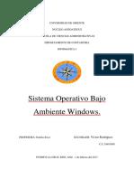 Sistema Operativo Bajo Ambiente Windows