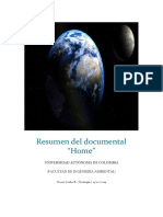 Resumen Del Documental Home