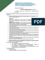 Normas Para El Control de Contaminantes Atmosfericos en Ecuador