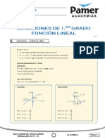 X_Sem1_Ecuaciones de Primer Grado Funcion Lineal