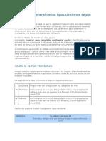 Descripción General de Los Tipos de Climas Según Köppen