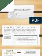 Energia Interna , Entalpia y Calor Especifico de Un Gas (1)
