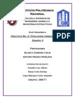Practica No. 3 Titulación Conductimetrica