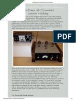 Low Power AM Transmitter Antenna Matching