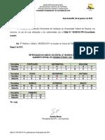 Edital N 001-19 Retifica Gabarito E2 - Vestibular 2019