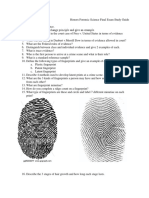 spring 2019 honors forensic science final exam study guide