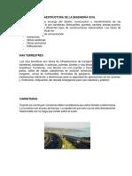 Tipos de Infraestructura de La Ingeniería Civil