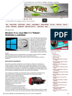 Windows 10 vs Linux Mint 17.2