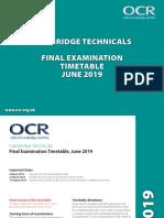 Ocr Cambridge Technicals Summer 2019