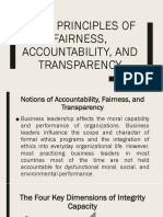 Core Principles of Fairness Accountability And