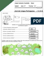 Avaliação de Português I UDB-2019