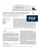 A Bibliometric-based Technique to Identify Emerging Photovoltaictechnologies in a Comparative Assessment With Expert Review