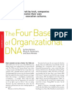 2001005 - Strategy + Business - Four Bases of Organizational DNA