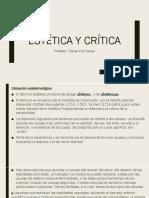 Estética Y Crítica Clase 1